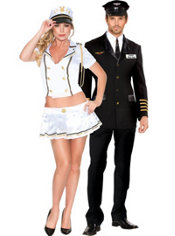 Mile High Pilot and Sexy Sails Couples Costumes