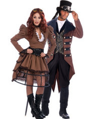 Steampunk Vickey and Steampunk Jack Couples Costumes