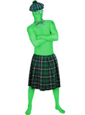 Adult St Patricks Day Green Morphsuit Costume Set