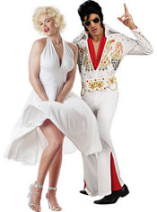 Marilyn Monroe and Deluxe Elvis Presley Couples Costumes