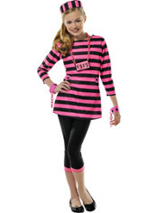 Girls Miss Dee Meaner Prisoner Costume
