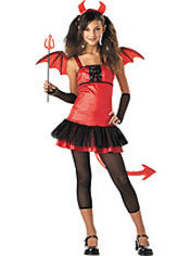 Girls Grrrl Devil Costume