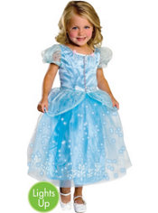 Girls Light-Up Crystal Princess Costume