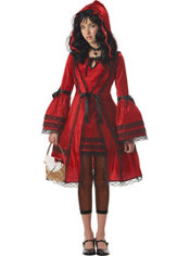 Girls Strangeling Red Riding Hood Costume