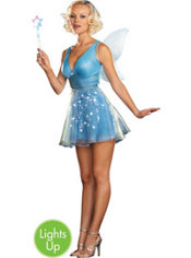 Adult True Blue Fairy Light-Up Costume