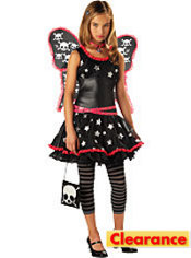 Girls Skulls & Stars Dark Fairy Costume