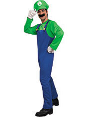 Adult Luigi Costume Deluxe - Super Mario Brothers