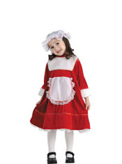 Girls Lil' Miss Santa Costume