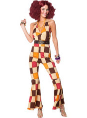 Adult 70's Boogie Babe Disco Costume