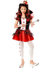 Girls Red Queen of Hearts Costume