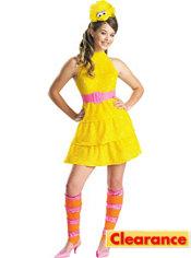 Girls Big Bird Costume - Sesame Street