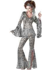 Adult Foxy Lady 70's Disco Costume