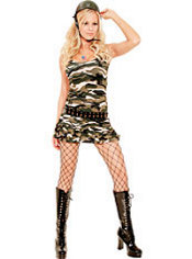 Adult Cadet Cutie Army Costume