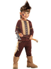 Toddler Boys Li'l Warrior Native American Costume