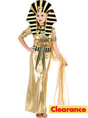 Adult Gold Nefertiti Egyptian Queen Costume