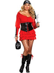 Adult Pirate Wench Costume Plus Size