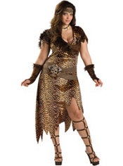 Adult Barbarian Woman Costume Plus Size Premier