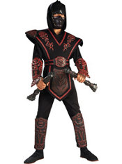 Boys Red Skull Warrior Ninja Costume