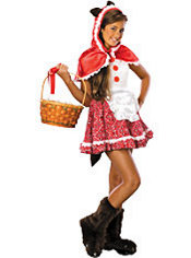 Girls Big Bad Red Riding Hood Costume