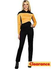 Adult Gold Jumpsuit Costume - Star Trek The Next Generation Deluxe
