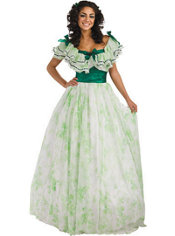 Adult Scarlet Picnic Dress Costume - Gone With the Wind