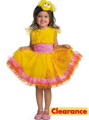Toddler Girls Frilly Big Bird Costume - Sesame Street