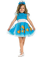 Toddler Girls Frilly Cookie Monster Costume - Sesame Street