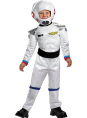 Toddler Boys Blast Off Astronaut Muscle Costume