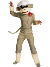 Boys Zombie Sock Monkey Costume