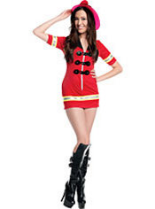 Teen Girls Firefighter Costume