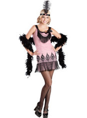 Teen Girls Flirty Flapper Costume