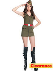 Teen Girls Major Trouble Army Costume