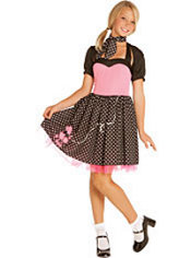 Teen Girls Sock Hop Sweetie Costume