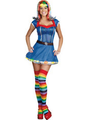 Adult Rainbow Light Light-Up Costume
