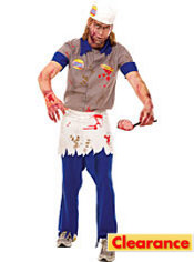 Adult Brain Burger Guy Zombie Costume
