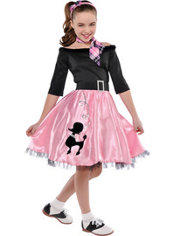 Girls Miss Sock Hop Costume