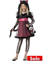 Girls Kit the Kat Costume - Skelanimals