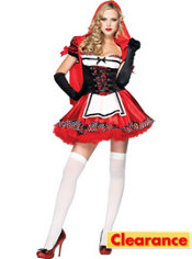 Adult Divine Miss Red Riding Hood Costume