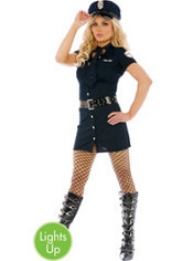 Adult Frisk Me Light-Up Police Costume