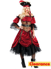 Adult Swashbucklin' Scarlet Pirate Costume Elite