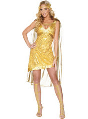 Adult Golden Goddess Costume