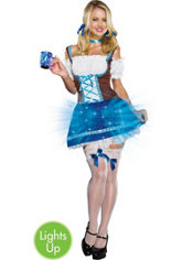 Adult Heidi Go Lightly Light-Up Beer Maid Costume