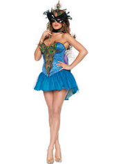 Adult Masked Peacock Costume