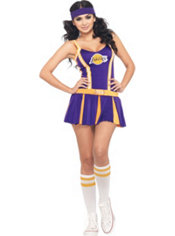 Adult LA Lakers Cheerleader Costume