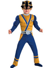 Toddler Boys Gold Ranger Muscle Costume - Power Rangers Samurai
