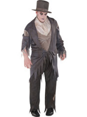 Adult Zombie Groom Costume Plus Size