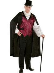 Adult Blood Count Vampire Costume Plus Size