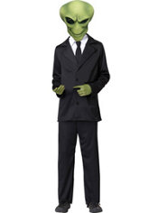 Boys Agent Alien Costume