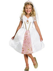 Girls Wedding Rapunzel Costume Deluxe - Tangled