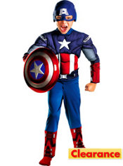 Toddler Boys Captain America Classic Muscle Costume - The Avengers